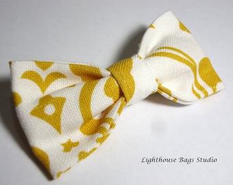 Bow Tie - Yellow & White