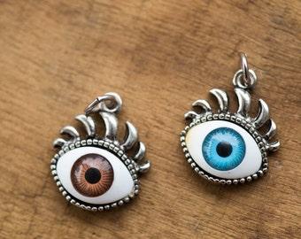 Free Shipping ~ Unique ~ Vintage Evil Eye Charm Pendant