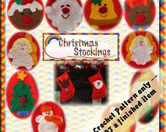 PDF Crochet Pattern Christmas Stocking