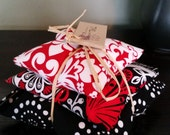 Hot Cold therapy bag for baby and kids red and black flowers