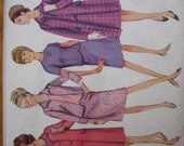 Simplicity Pattern 6748 Misses' Coat, Jacket, Skirt and Blouse    1966   Uncut