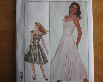 Simplicity Pattern 8481 Misses' Dress in Two Lengths    1988    Uncut