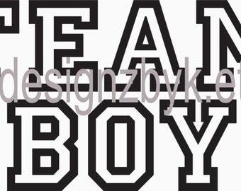 Team Boy shirt decal transfer for baby shower or hospital