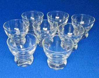 EVA ZEISEL designed glass Prestige By Federal Glass , a set of 8 .