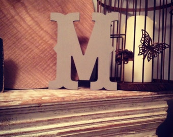 Hand-painted Wooden Letter M -  Wall Letters - Circus Font - Various sizes, finishes and colours