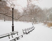 New York City Photography, NYC Art, New York Architecture Photography, Winter Walk in Central Park