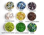 17 Colors of Pretty Pebbles for your Marimo Moss Ball Aquarium/ Terrarium: 1 measuring cup