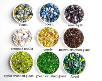 17 Colors of Pretty Pebbles for your Marimo Moss Ball Aquarium/ Terrarium: 1 measuring cup