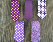 lavender ties - ties for men - purple ties - purple and gold tie - purple necktie - purple paisley tie - lavender paisley tie - lavender tie