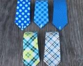 Plaid Ties for Boys - Aqua Ties for Boys - Fun Ties for Boys - Spring Ties - Ties for Spring - Blue Plaid ties - Ties for Toddlers -
