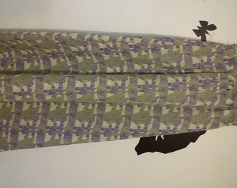 Vintage 1970s  Maxi Skirt Pastel Colors Lavender Green Superba Nishan of Oberlin extra Small