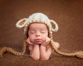 Baby Lamb hat (many colors available, sizes nb, 1-3mos, 3-6mos, 6-12mos)
