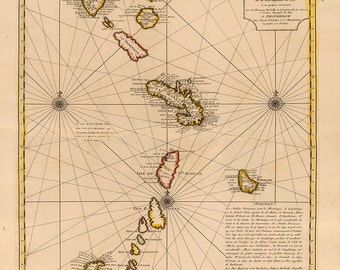 1726 Chart of The Caribbean