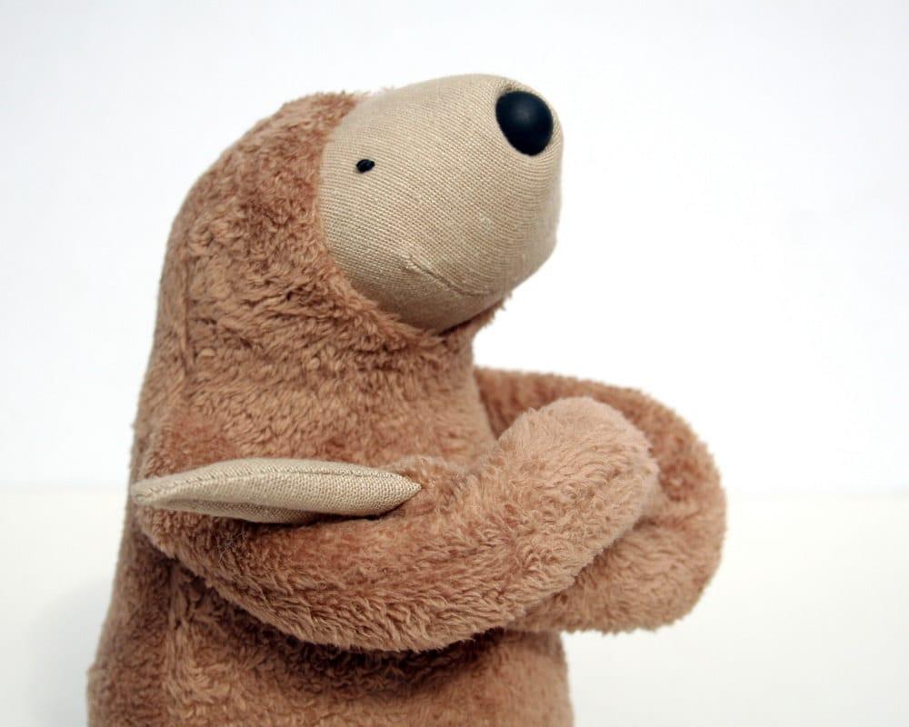 Stuffed Animal Toys : Plush peanut sloth stuffed animal toy for children