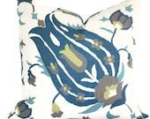 Lee Jofa Turkish Flower Decorative Pillow Covers 18x18, 20x20 or 22x22, or Eurosham pillow, Floral pillow, Toss Pillow, Accent pillow