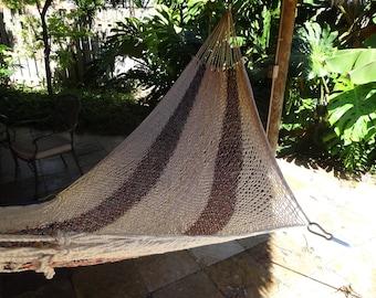 Hammocks! Adult sized cotton hand woven hammock from Guatemala.  Mayan made banana hammocks 14