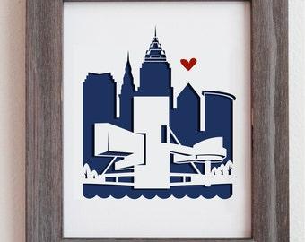 Cleveland, Ohio.  Personalized gift, wedding gift