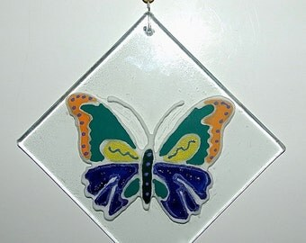 Butterfly Recycled Glass Ornament