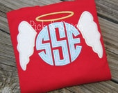 Made for Monogram Angel Wings Frame Machine Embroidery INSTANT DOWNLOAD