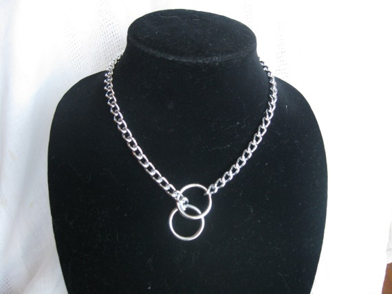 "18"" Obedience Choke Chain Necklace, Silver"