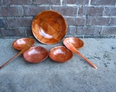 Vintage Weavewood Formosa Salad Bowl Set