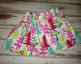 Christmas Skirt  Boutique Holiday Christmas Toddler Twirl Skirt Christmas Skirt for Toddler