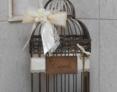 Vintage Inspired Birdcage Wedding Card Holder / Wedding  Decoration / Birdcage Card Holder / Skeleton Key / Card Box / Wedding Birdcage