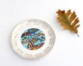 South Carolina Vintage State Plate | Retro Kitchen Dishware