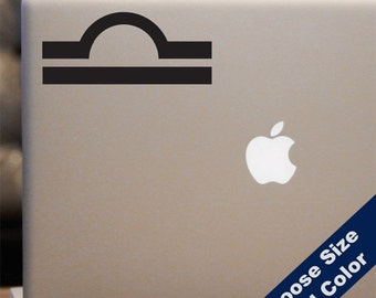 Libra Astrology Symbol Decal  - Zodiac Sticker - For Car Window, Laptop, iPhone