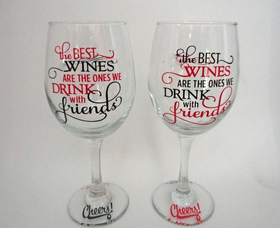 Funny wine glass wine gift personalized wine glasses for Where to buy vinyl letters for wine glasses