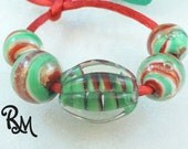 SALE   Lampwork Bead Set - 'Holiday Traditions'