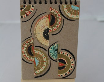 Semicircles, Miniature Journal, One of a kind notebook