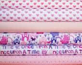 Princess and Hearts Fabric Bundle -  Half Yard Bundle - 6 half yard pieces (B305)