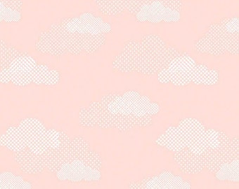 Sweet Dreams - Light Pink Clouds from Red Rooster Fabrics