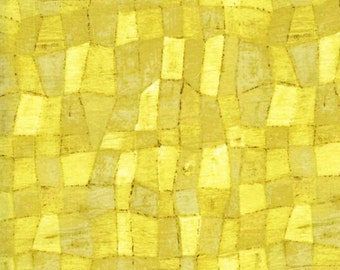 SALE - Edges Tonal Mosaic Lemon Yellow by Laura Gunn from Michael Miller