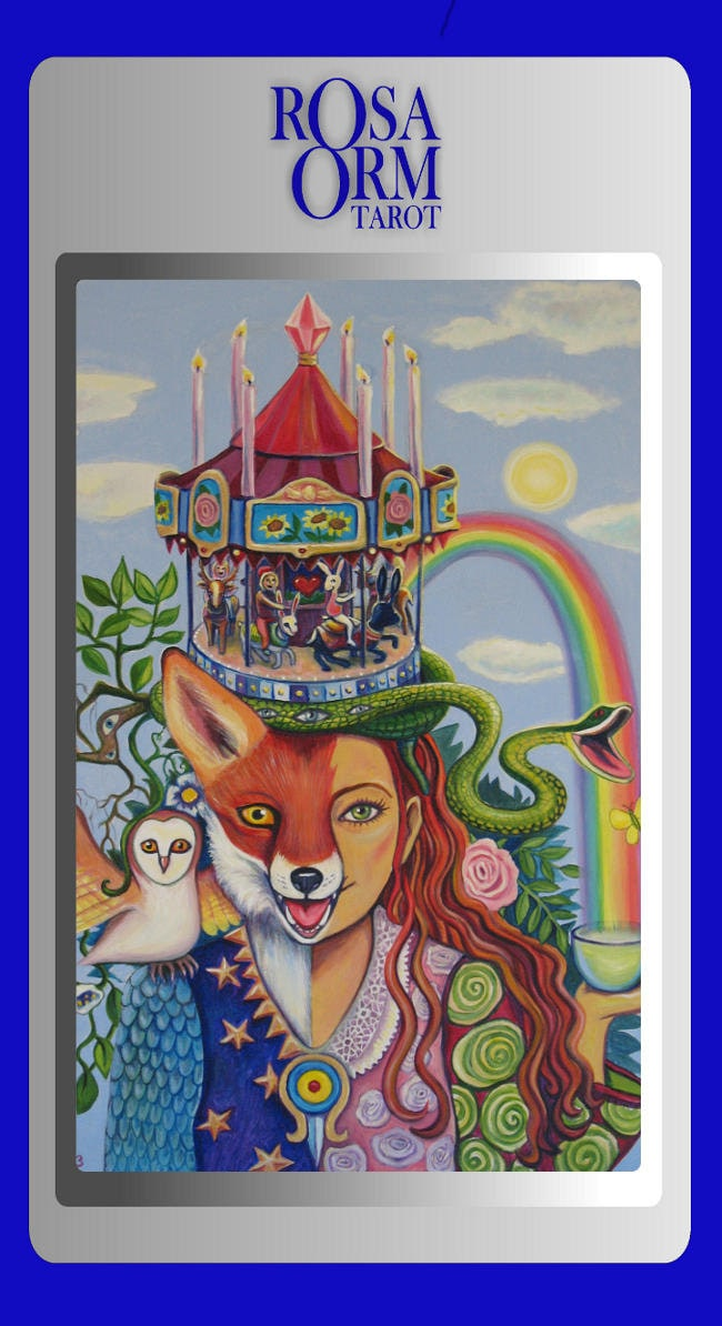 ROSA ORM TAROT Guidebook And Tarot Deck For Exploration And