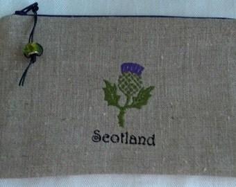 Scottish Thistle Embroidered Bag