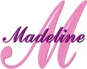 "Madeline - Machine Embroidery Font - Sizes 1"",2"",3"",4"" BUY 2 get 1 FREE"