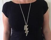 Lush Glitter Lighting Bolt Pendant Necklace