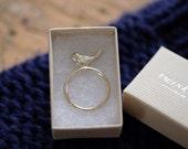 Ring large bird silver