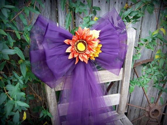 eggplant pew bows fall wedding purple wedding decor church. Black Bedroom Furniture Sets. Home Design Ideas