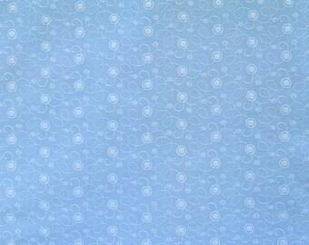 Fancy Eyelet Embroidery in Blue, 1 yard