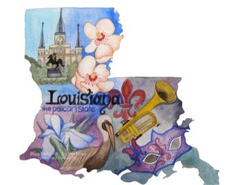 Louisiana, the Pelican State, Art Print