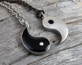 My Other Half - Friendship Yin Yang Pendants on Link Necklaces