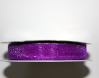 "3/8"" Organza Ribbon - Purple - 25 yard spool"