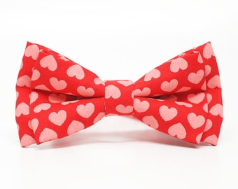Valentine bow tie, pre-tied for Boys, Toddlers, Baby - wedding, ring bearer, church, photo prop, special occasion