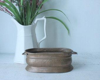 Antique Copper Bowl, Dish, Planter