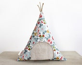 Floral Teepee Toy Pillow, Tooth Fairy Teepee Pillow, Liberty of London, Girls, Children, Toy,  Stuffed Toy, Keepsake, Tipi