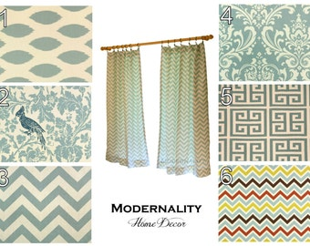 Items similar to geometric curtain panels premier prints for 120 inch window treatments