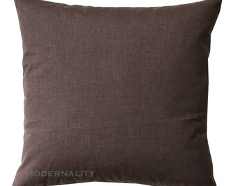 Solid Throw Pillows, Brown Solid Pillow Cover, Zippered Pillow, Brown Cushion Cover, Lumbar, Square Pillow, Brown Toss Pillows, Plain Pillow